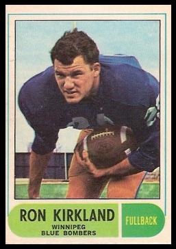 Ron Kirkland 1968 O-Pee-Chee CFL football card