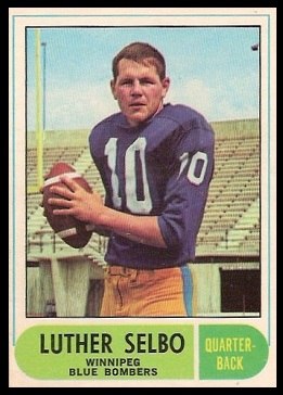 Luther Selbo 1968 O-Pee-Chee CFL football card