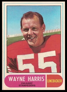 Wayne Harris 1968 O-Pee-Chee CFL football card