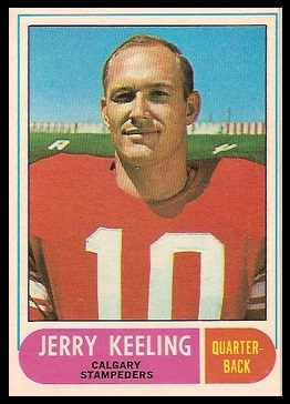 Jerry Keeling 1968 O-Pee-Chee CFL football card