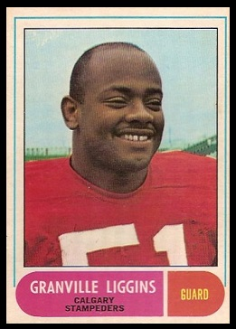 Granville Liggins 1968 O-Pee-Chee CFL football card