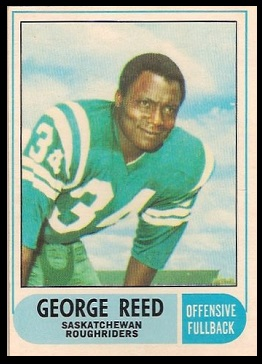 George Reed 1968 O-Pee-Chee CFL football card