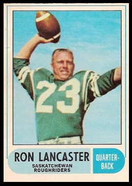 Ron Lancaster 1968 O-Pee-Chee CFL football card