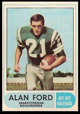Alan Ford 1968 O-Pee-Chee CFL football card