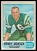 1968 O-Pee-Chee CFL Henry Dorsch