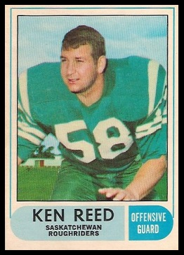 Ken Reed 1968 O-Pee-Chee CFL football card