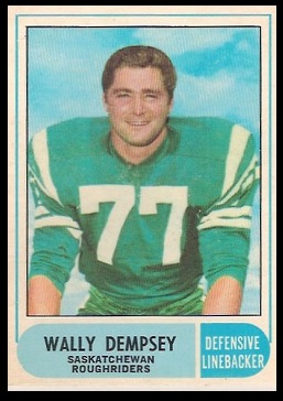 Wally Dempsey 1968 O-Pee-Chee CFL football card