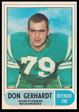 Don Gerhardt 1968 O-Pee-Chee CFL football card