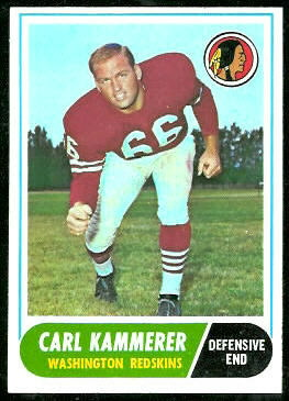 Carl Kammerer 1968 Topps football card