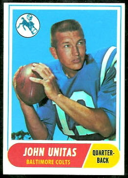 John Unitas 1968 Topps football card