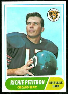 Richie Petitbon 1968 Topps football card
