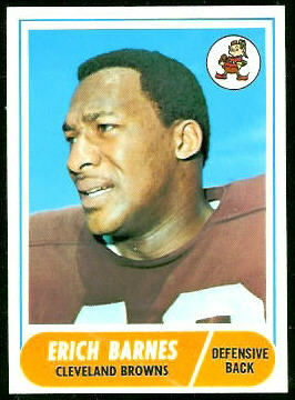 Erich Barnes 1968 Topps football card