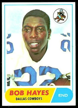 Bob Hayes 1968 Topps football card