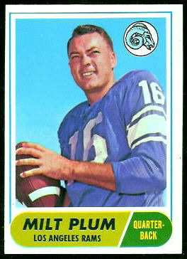 Milt Plum 1968 Topps football card