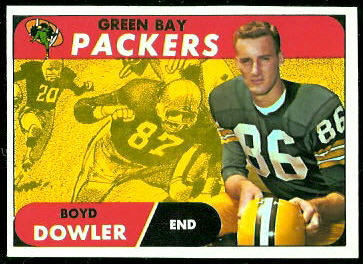Boyd Dowler 1968 Topps football card