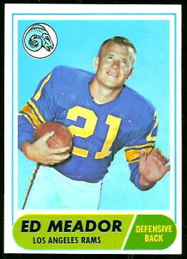 Ed Meador 1968 Topps football card