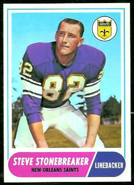 Steve Stonebreaker 1968 Topps football card