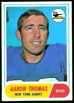 Aaron Thomas 1968 Topps football card