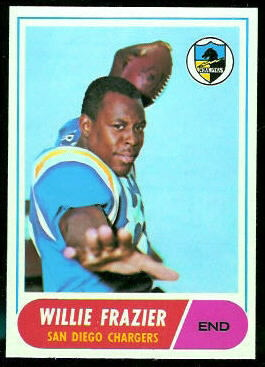 Willie Frazier 1968 Topps football card