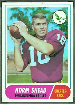 Norm Snead 1968 Topps football card