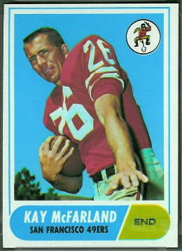 Kay McFarland 1968 Topps football card