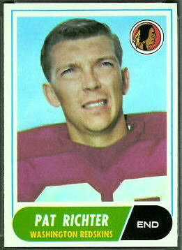 Pat Richter 1968 Topps football card