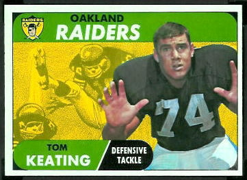 Tom Keating 1968 Topps football card