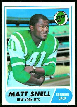Matt Snell 1968 Topps football card