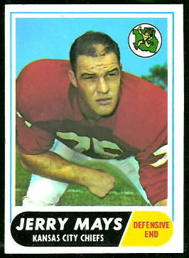 Jerry Mays 1968 Topps football card