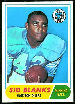 Sid Blanks 1968 Topps football card