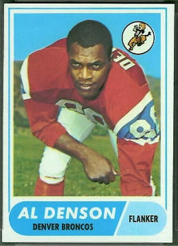 Al Denson 1968 Topps football card