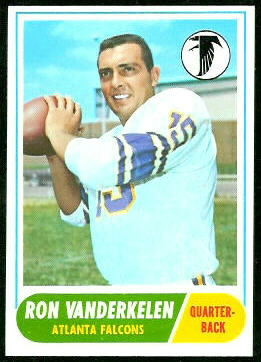 Ron Vander Kelen 1968 Topps football card