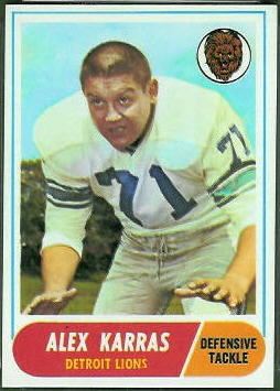 Alex Karras 1968 Topps football card
