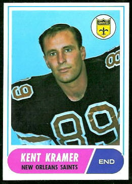 Kent Kramer 1968 Topps football card