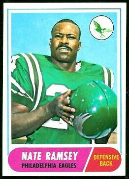 Nate Ramsey 1968 Topps football card