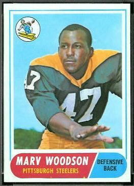 Marv Woodson 1968 Topps football card