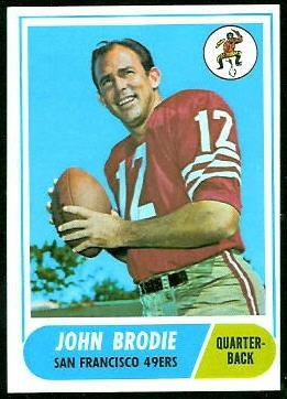 John Brodie 1968 Topps football card