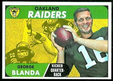 George Blanda 1968 Topps football card
