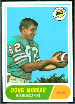 Doug Moreau 1968 Topps football card