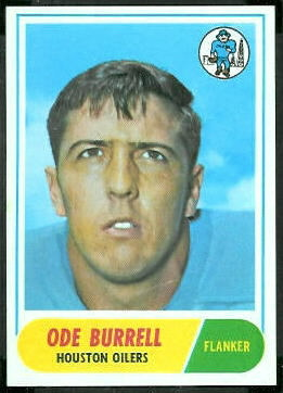 Ode Burrell 1968 Topps football card