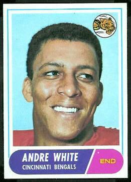 Andre White 1968 Topps football card