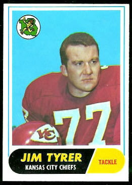 Jim Tyrer 1968 Topps football card