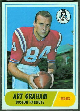 Art Graham 1968 Topps football card