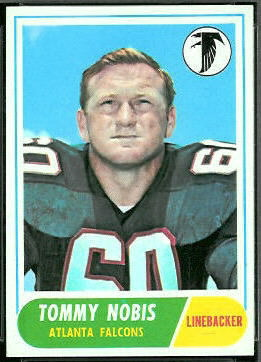 Tommy Nobis 1968 Topps football card
