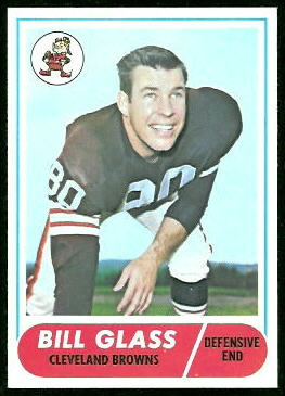 Bill Glass 1968 Topps football card