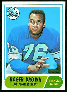 Roger Brown 1968 Topps football card
