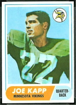 Joe Kapp 1968 Topps football card