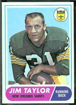 Jim Taylor 1968 Topps football card
