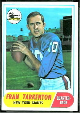 Fran Tarkenton 1968 Topps football card