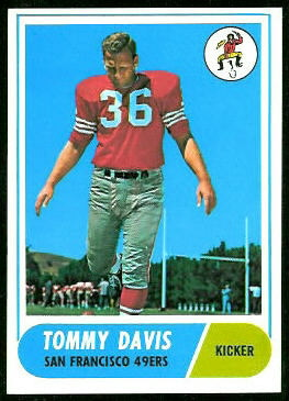 Tommy Davis 1968 Topps football card